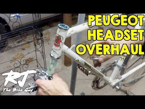 How To Overhaul Vintage Peugeot Bike Headset