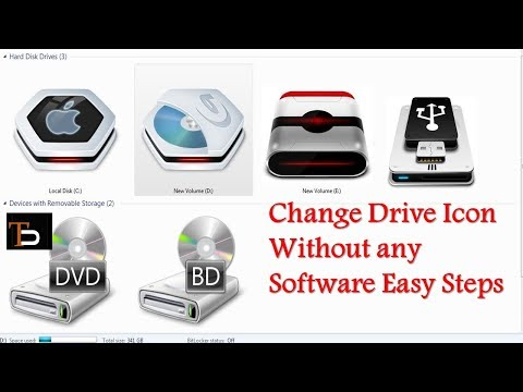 [Hindi]Change Windows Drive Icon Without any Software in 1 Minute || Latest 2017