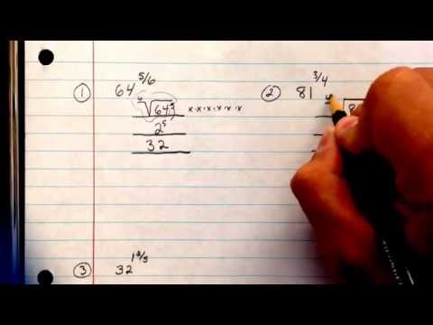 Evaluating fractional exponents