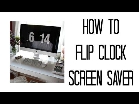 HOW TO FLIP CLOCK SCREENSAVER | MAC | WINDOWS | JULIE MIRANDA