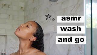 Asmr Wash And Go For Natural Curly Hair  My Insecurities