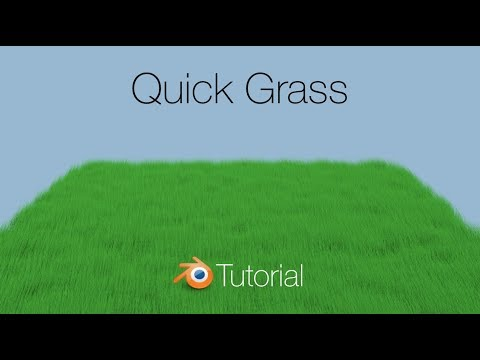 Quick Grass Tutorial in Blender (Cycles)