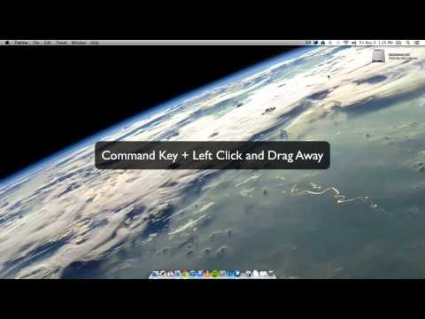 How To Remove Icons From The Menu Bar on Mac OS X
