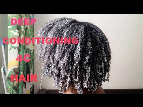 HOW TO: DEEP CONDITION & DETANGLE KINKY 4C NATURAL HAIR (D.I.Y)
