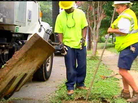 Crews Clean Drains After Storms