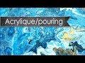 Tutoriel toile abstraite - acrylique pouring