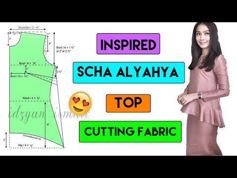 Inspire Scha Alyahya Ruffle Top | Part 2 Cutting Fabric
