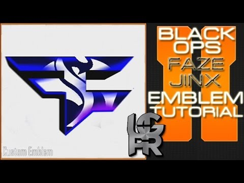 FaZe Jinx Logo : Call of Duty Black Ops 2 Emblem Tutorial