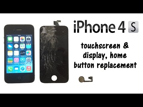 iPhone 4S - Touch Screen Digitizer Glass & LCD Display, Home Button Replacement