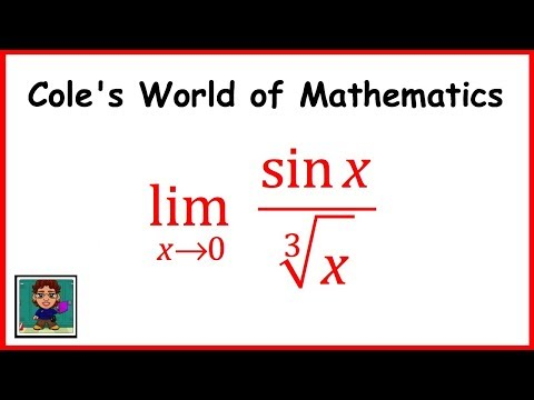 Limit  of sin x/cube root x ❖ Calculus 1