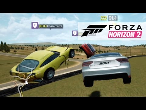 Forza Horizon 2 - Online Crew Fun! King Streaks, Near Misses, and More!
