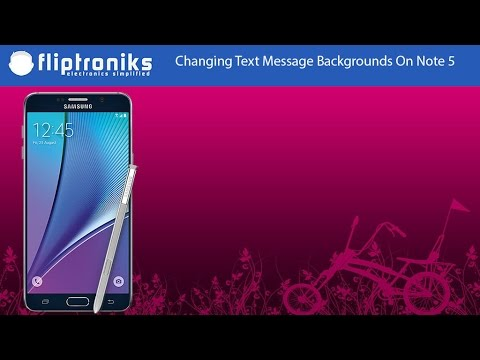 Samsung Galaxy Note 5: How to Change Text Messages Background Style - Fliptroniks.com