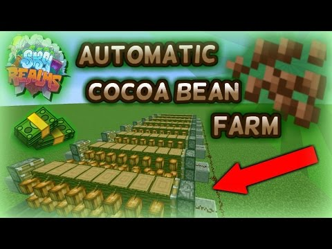 MINECRAFT SKYBLOCK SKYREALMS | HOW TO MAKE THE BEST AUTOMATIC COCO BEAN FARM IN MINECRAFT !!!