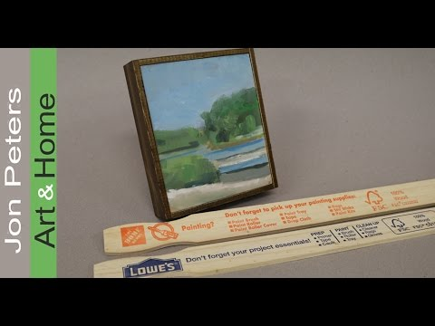 Art Lesson , How to Make a Frame with Free Paint Sticks