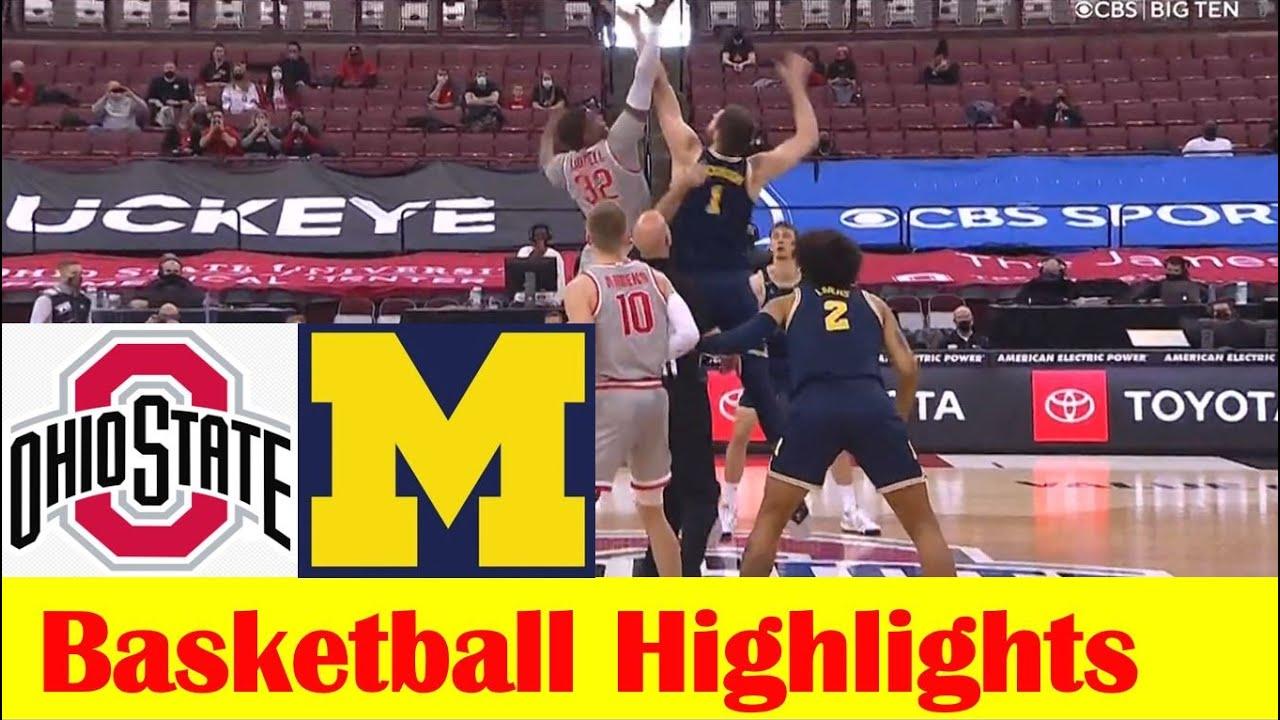 Michigan vs Ohio State Basketball Game Highlights 2 21 2021