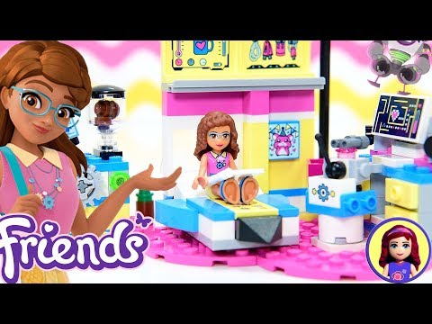 Lego Friends Olivia's Deluxe Bedroom Build Review Silly Play Kids Toys