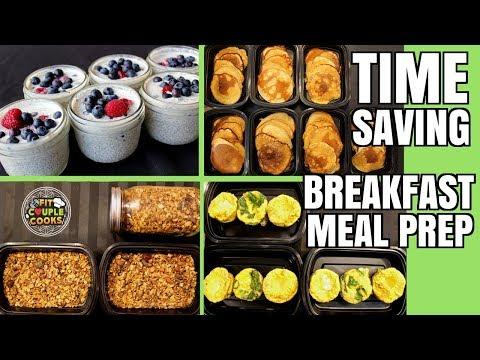 4 Easy & Healthy Meal Prep Breakfasts