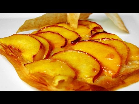 Peach pie easy recipe | FRENCH tarte à la pêche