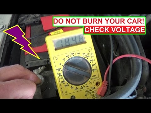 Do Not Burn Your Car! Check the alternator voltage every oil change!