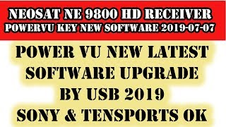 7:46) Neosat I5000 Power Vu Upgrade By Usb Video - PlayKindle org