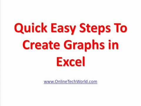 Quick Easy Steps to Create Graphs in Excel
