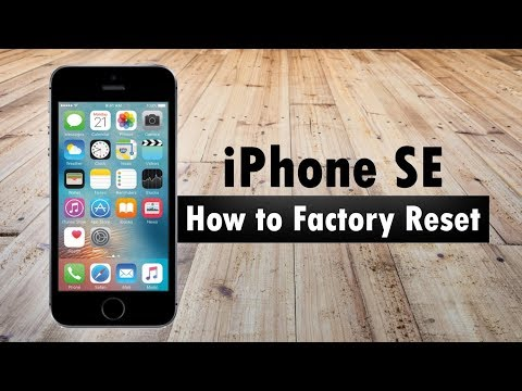 iPhone SE How to Reset Back to Factory Settings