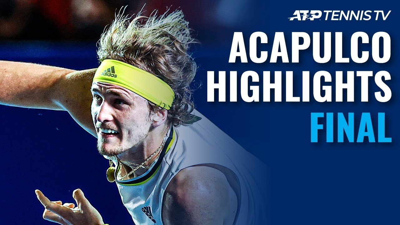 Zverev and Tsitsipas Battle for the Title   Acapulco 2021 Final Highlights