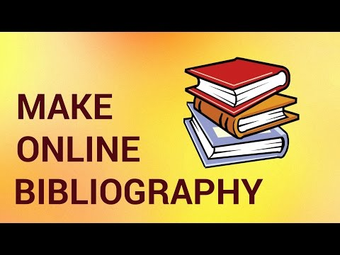 How to Make a Bibliography Online