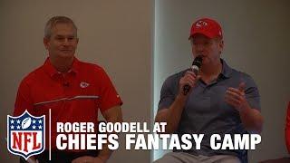 Commissioner Roger Goodell Speaks on a Panel at Chiefs Fantasy Camp | NFL