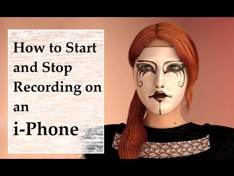 How to start and stop using a pause when recording off iphone
