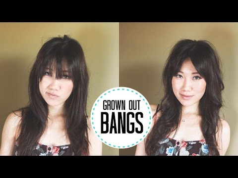 Tutorial | Styling long straight bangs / fringe