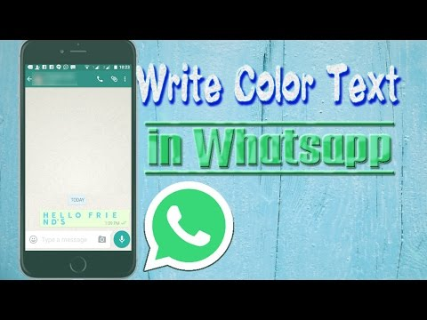 How to Write Color Text in Whatsapp