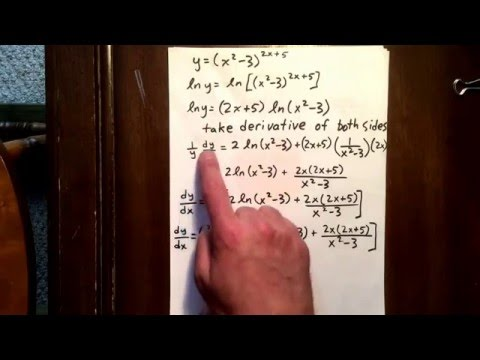 18 logarithmic differentiation
