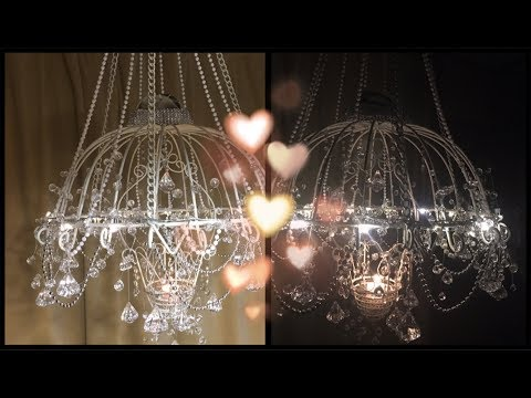 ~ DIY~ Lighted Crystal Chandelier