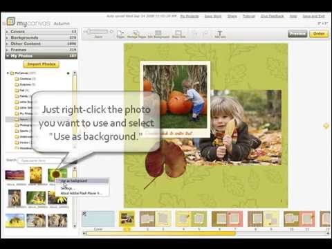 Tutorial: How to add photos to your MyCanvas photo book