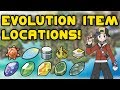 Pokemon Gold & Silver - Evolution Item Locations