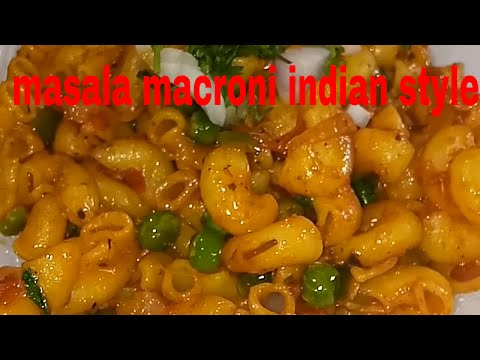 Masala macroni in indian style/macroni pasta recipe/kids lunch box recipe