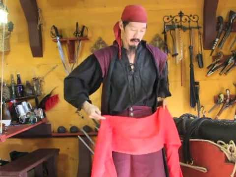 How to Tie a Pirate Sash N Belt