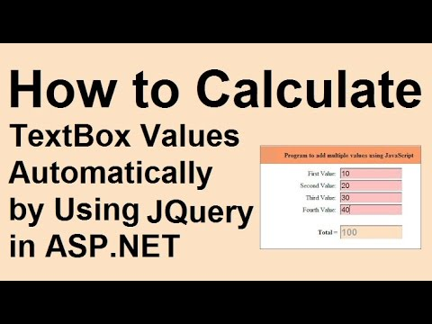 How to Calculate Total Amount Values Entered in Textbox by Using JQuery in Asp net