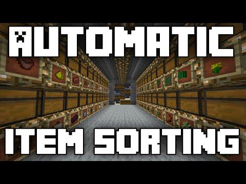 Minecraft Tutorial: Automatic Item Sorting Storage System