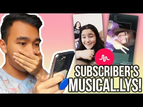 REACTING TO MY SUBSCRIBER'S MUSICAL.LYS! 💯😻