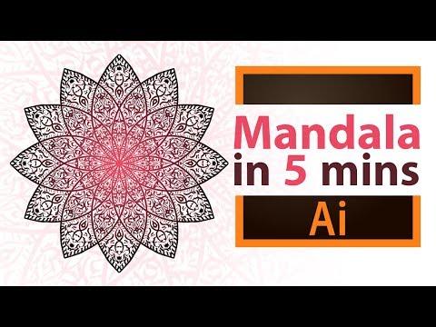 Create a simple Mandala in 5 minutes  - Adobe Illustrator