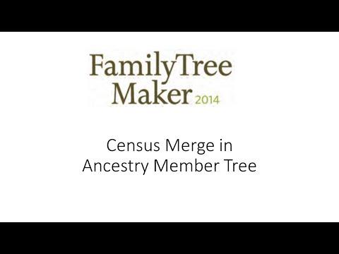 Census Merge in Ancestry Member Tree
