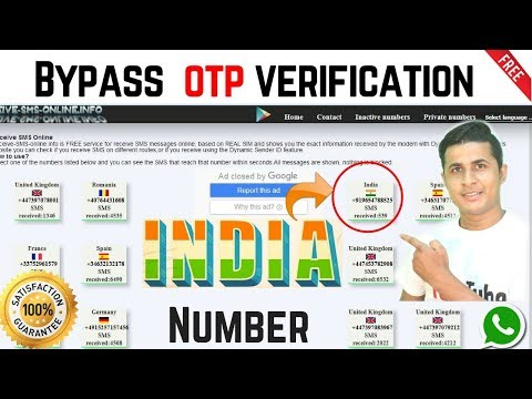 Finally I got a website for indian otp bypass or indian Virtual Number