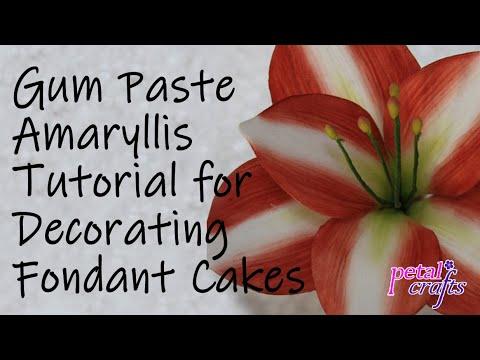 Making a Gumpaste Amaryllis Flower by Petal Crafts