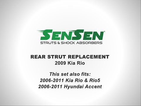 Replacement of Rear Struts on a 2009 Kia Rio l SENSEN Shocks & Struts