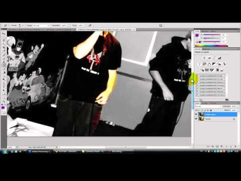 Photoshop CS4: Picture With White, Black And Colour Areas