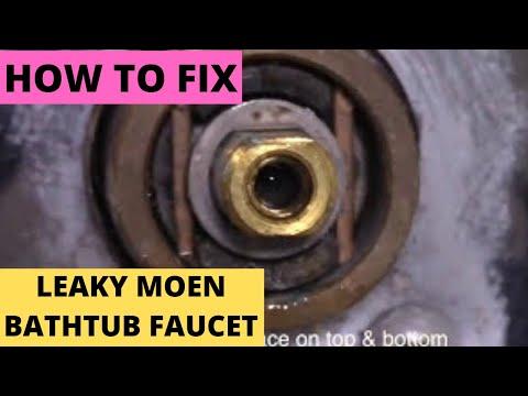 Fix Leaky Moen Bathtub Faucet. Free Replacement #1225 cartridge (DIY)