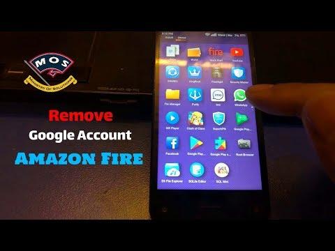 Remove Google Account from Amazon Fire