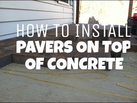 How to install pavers on top of concrete Hanover, PA Hardscaping Contractor - RYAN'S LANDSCAPING